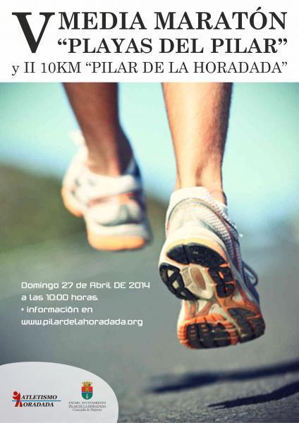 V Media Maratón Playas del Pilar y II 10,5 km en Pilar de al Horadada