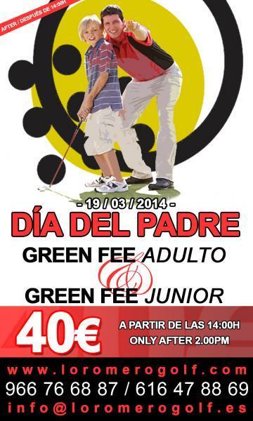 Día del padre en Lo Romero Golf Pilar de la Horadada