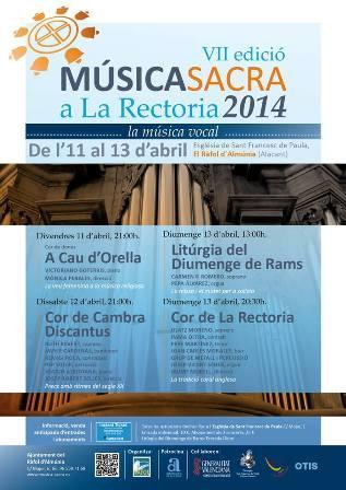 VII Edición de Música Sacra de la Rectoria en el Ràfol d'Almunia 2014