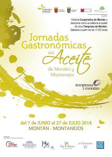 Jornadas Gastronómicas del Aceite en Montán y Montanejos