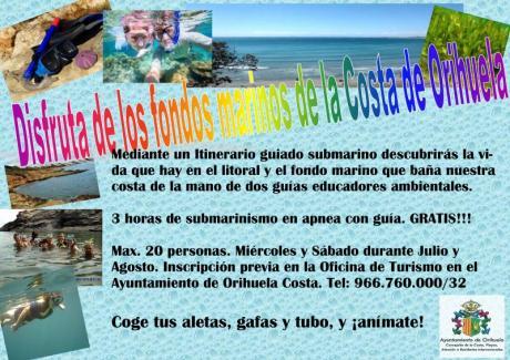Conoce los fondos marinos de la costa de Orihuela