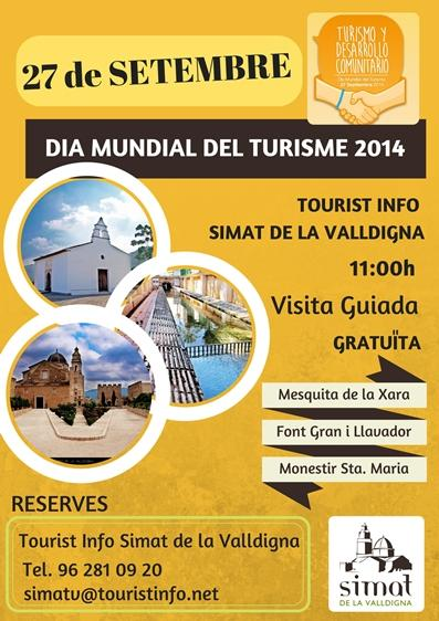 """Simat de la Valldigna - Día Mundial del Turismo DMT-2014 – """"Sé turista en tu ciudad""""."""