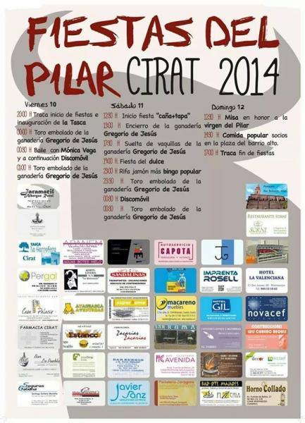 Fiestas en honor a la virgen del Pilar  en Cirat