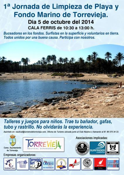 I Jornadas Limpieza de Playa y Fondo Marino de Torrevieja.