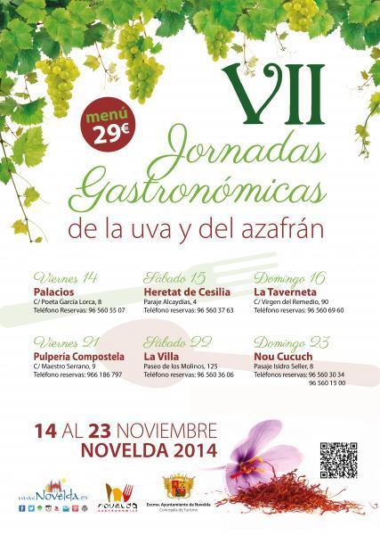 VII JORNADAS GASTRONÓMICAS DE LA UVA Y DEL AZAFRÁN