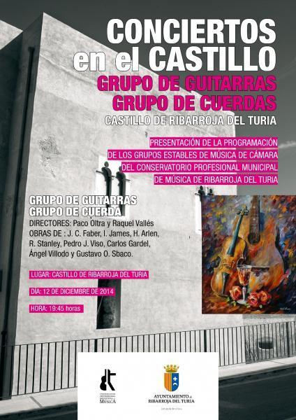 """Ciclo de  Conciertos en el Castillo """"Grupo de guitarras y cuerdas"""""""