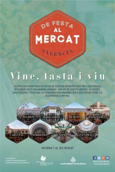 De festa al mercat: Vine, tasta i vi