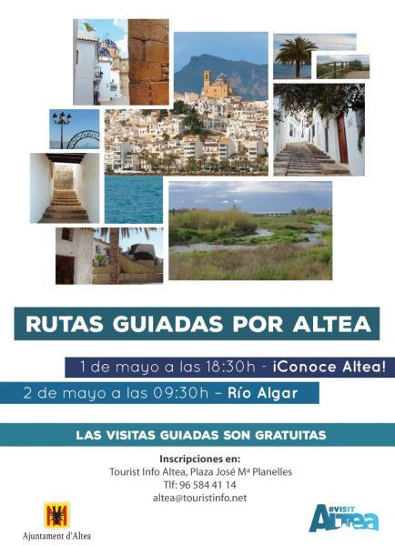 Guided tours: DISCOVER ALTEA! and ALGAR RIVER