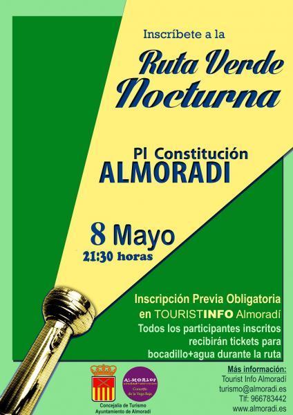 Ruta Verde Nocturna en Almoradí (Mayo 2015)