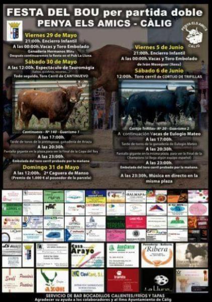 Fiestas del toro en Càlig