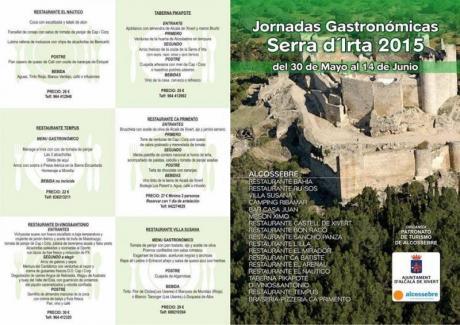 JORNADAS GASTRONÓMICAS SERRA D'IRTA 2015
