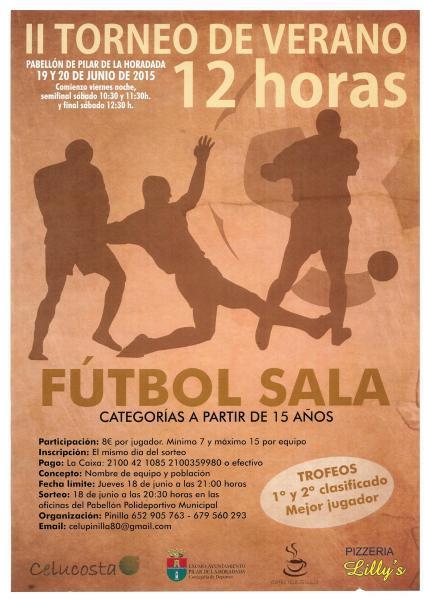 II Torneo de Verano 12 horas Fútbol Sala en Pilar de la Horadada 2015