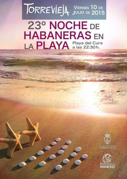 Habaneras en Playa El Cura. Torrevieja 10 Julio