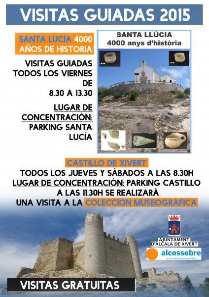 VISITAS GUIADAS AL CASTILLO DE XIVERT Y ERMITA DE SANTA LUCÍA