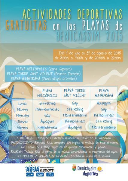 Actividades Deportivas en playas - Verano 2015