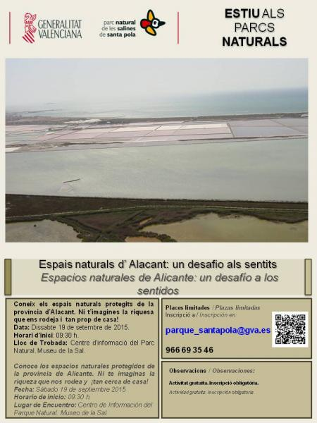 Actividades Septiembre Museo de la Sal - Parque Natural de las Salinas de Santa Pola