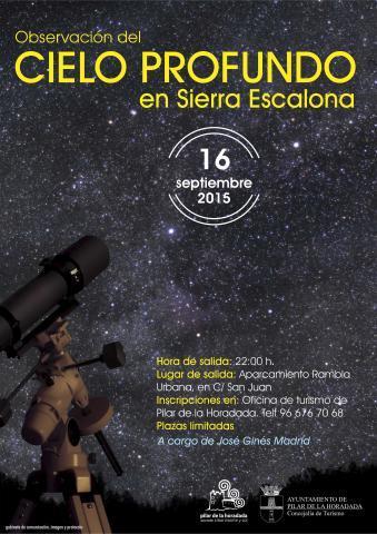 Observación del Cielo Profundo en Sierra Escalona de Pilar de la Horadada