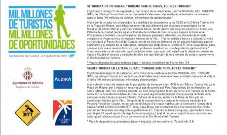 """Alzira - Día Mundial del Turismo DMT-2015 - """"Sé turista en tu ciudad"""""""