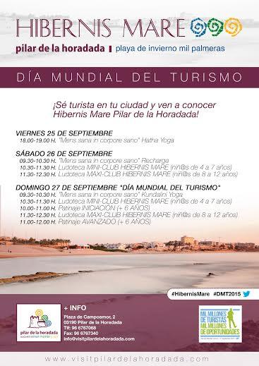 """DMT2015-Día Mundial del Turismo """"Turismo somos todos, todo es turismo"""" en Pilar de la Horadada"""