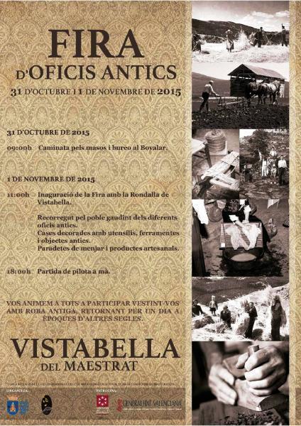 Feria de oficios antiguos en Vistabella del Maestrazgo