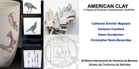 """Exposición """"American Clay. 4 vision of American Contemporary Ceramics"""". Manises 2015"""