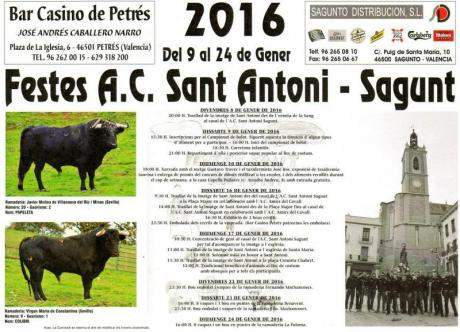 Sant Antoni Sagunto. 2016