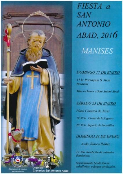 Fiesta a San Antonio Abad en Manises. 2016