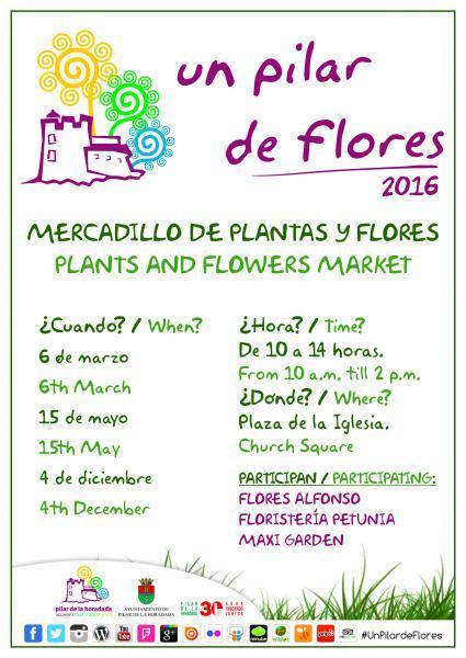 """Mercadillo de plantas y flores """"Un Pilar de Flores"""" en Pilar de la Horadada"""