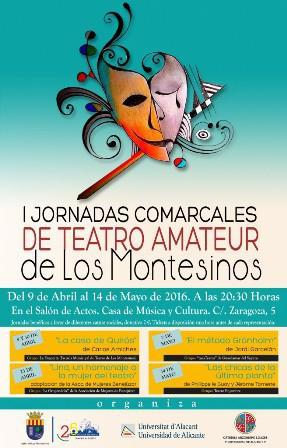 I Jornadas Comarcales de Teatro Amateur Los Montesinos 2016