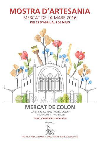 Mostra Artesanía- Mercat de la Mare en el Mercado Colón