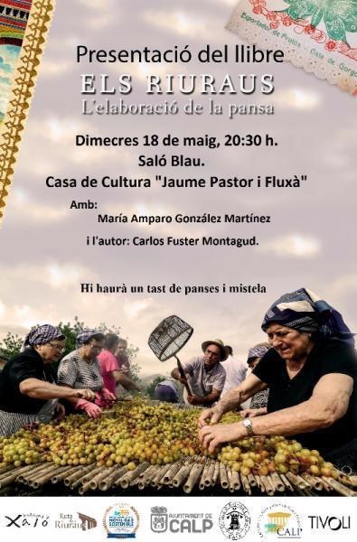 "Presentación del Libro: ""ELS RIURAUS. L'ELABORACIÓ DE LA PANSA"""