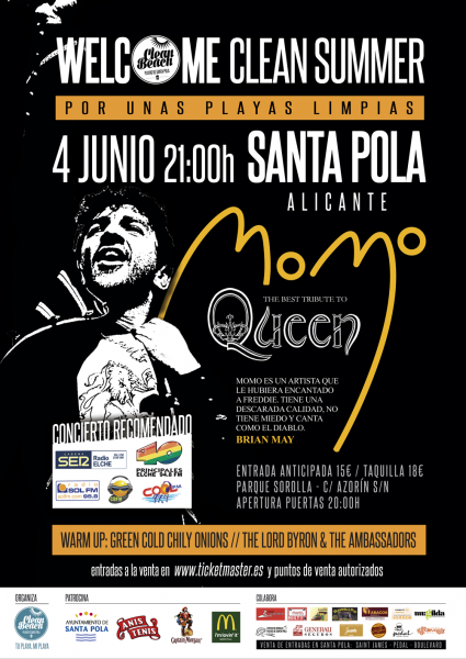 CONCIERTO TRIBUTO A QUEEN CLEAN BEACH
