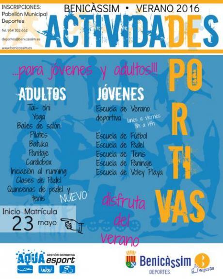 Actividades Deportivas verano 2016 - Benicàssim