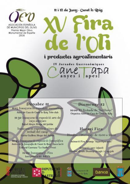 Feria del aceite y productos alimentarios y jornadas Canetapa en Canet lo Roig