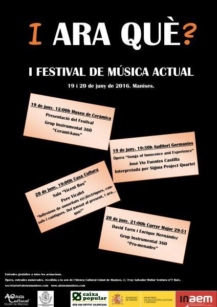 I ara què? I Festival de música actual
