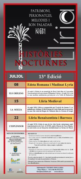 Historias nocturnas Julio 2016. 13ª Edición.