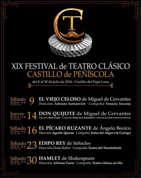 XIX FESTIVAL  de Teatro Clásico Castillo de Peñiscola