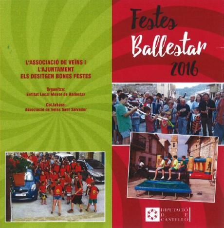 Fiestas Mayores de San Salvador en Ballestar