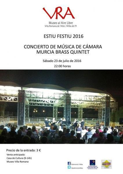 Concierto Música de Cámara en Villa Romana de l'Albir