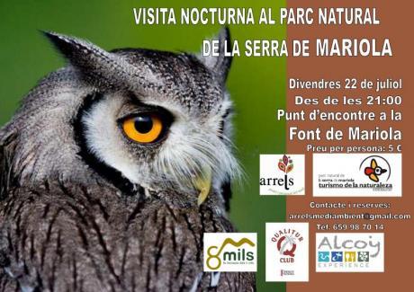 Visita nocturna al parque natural de la Sierra de Mariola