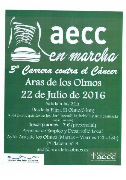 3ª CARRERA CONTRA EL CANCER -aecc - Aras de los Olmos 2016