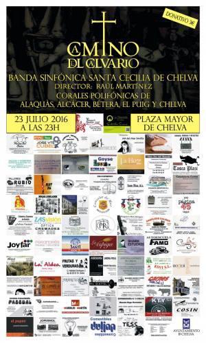 Concierto- Camino del Calvario Chelva 2016  Banda Polifónica Santa Cecilia de Chelva