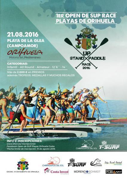 I OPEN DE SUP RACE PLAYAS DE ORIHUELA 2016