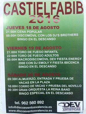 Fiestas de Castielfabib 2016