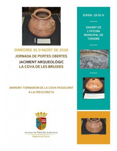 Jornada de puertas abiertas - Yacimiento arqueológico Cova de les Bruixes