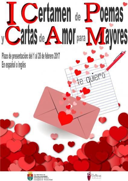 I Certamen de Poemas y Cartas de Amor para Mayores en Pilar de la Horadada 2017