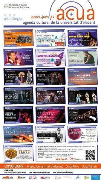 Agenda cultural de la Universidad de Alicante. Febrero – junio 2017
