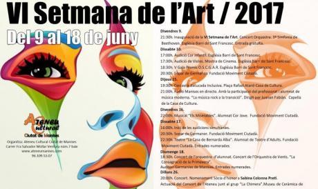 VI Semana de Arte 2017 Ateneu Cultural Ciutat de Manises.