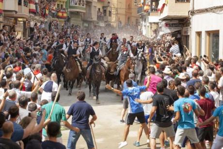 Bulls and horses in Segorbe, pure show