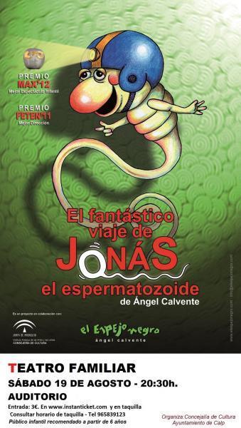 """Teatro Infantil  """"El fantástico viaje de Jonás el espermatozoide"""""""